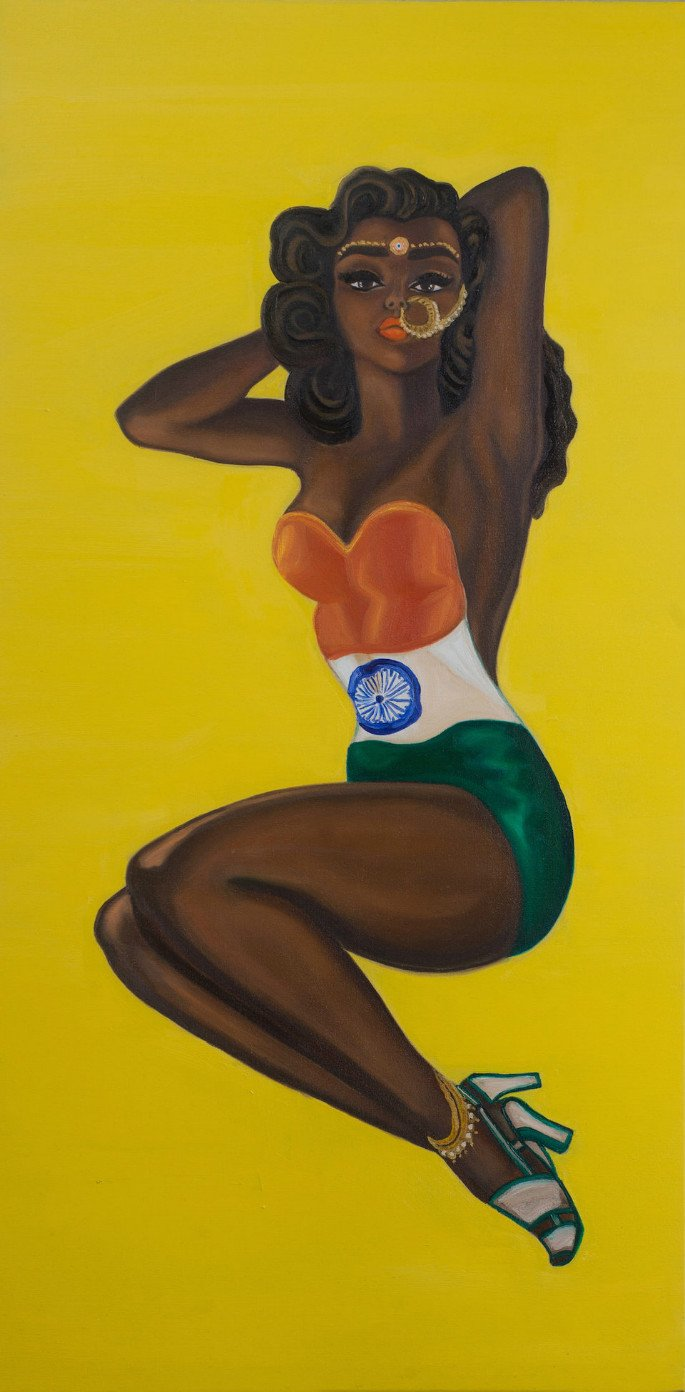 Feminist Artists Paints Indian Pinup Girls 7