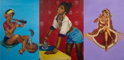 भारतीय महिला कलाकार पिनअप मॉडल्स में देसी ट्विस्ट लाती है