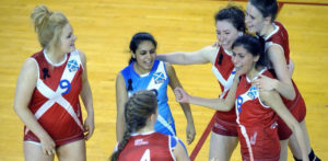 Sisters Priya and Raveen Gill take on Scottish Volleyball