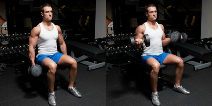 Top 5 Exercises for Biceps additoinal image 5 - twisting dumbbell curls
