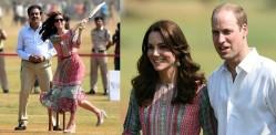 William and Kate enjoy cricket with Sachin Tendulkar