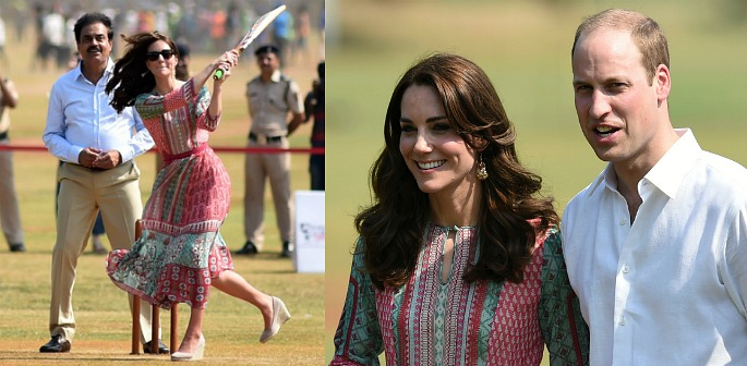 William and Kate enjoy cricket with Sachin Tendulkar