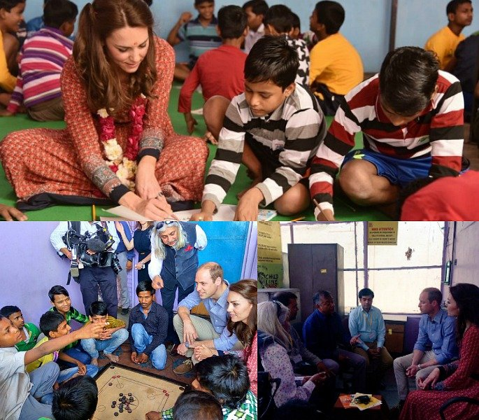 William and Kate meet Narendra Modi for lunch