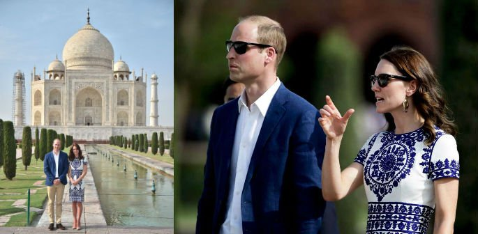 William and Kate admire Taj Mahal in India