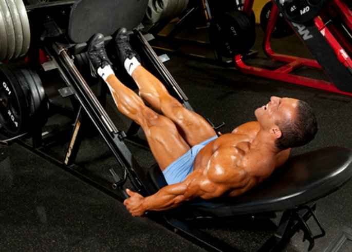 how to have an effective leg workout - calf raises on incline leg press