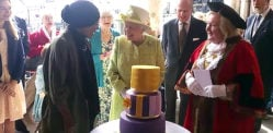 Nadiya Hussain bakes Queen's 90th birthday cake