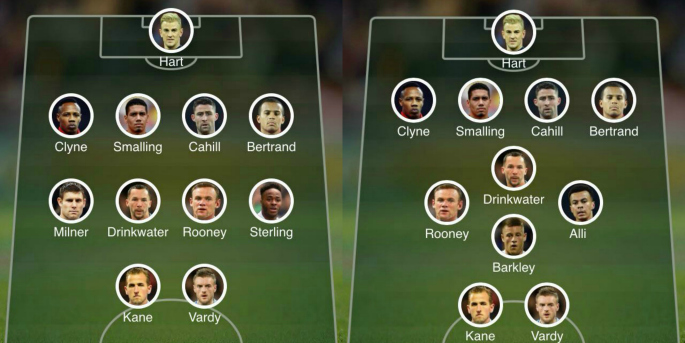 4-4-2 England with Rooney final