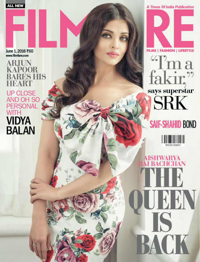 Aishwarya Rai is Flower Queen on Filmfare cover