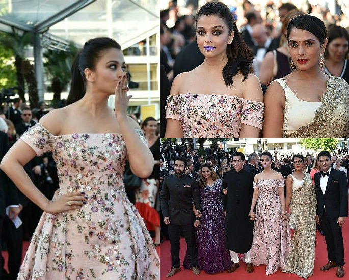 Aishwarya Rai goes bold in Purple at Cannes 2016
