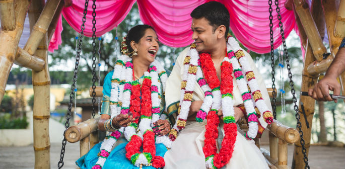 Indian couple holds eco friendly wedding
