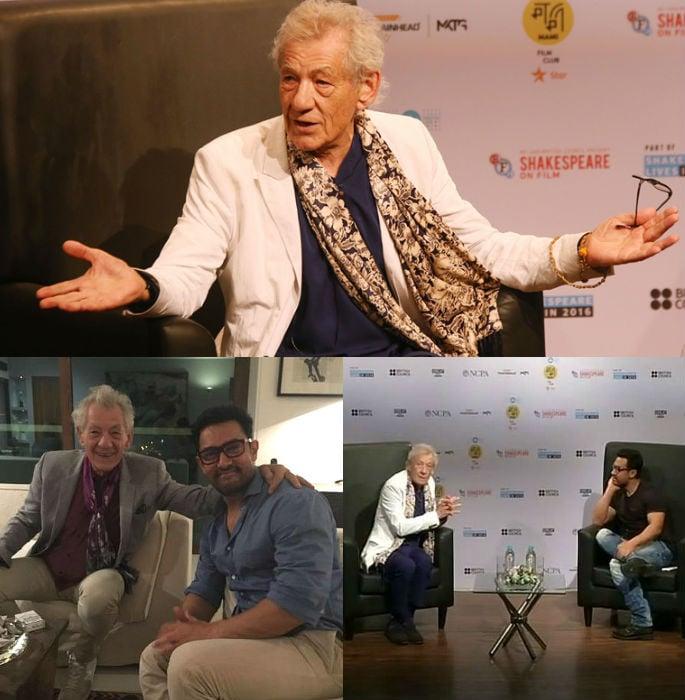 Aamir Khan chats to Sir Ian McKellen