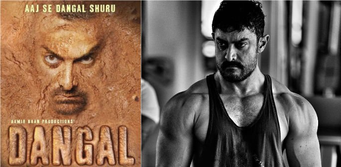 Aamir Khan shows off muscular look for Dangal