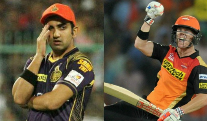 IPL Gambhir and Warner Additional Image