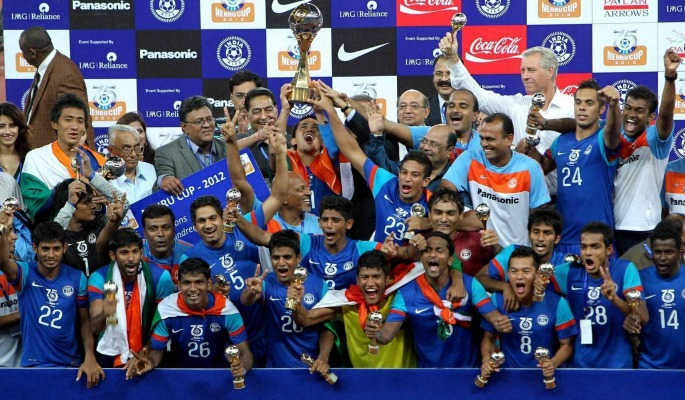 India won the 2012 Nehru Cup