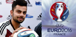 Virat Kohli supporting Germany in Euro 2016