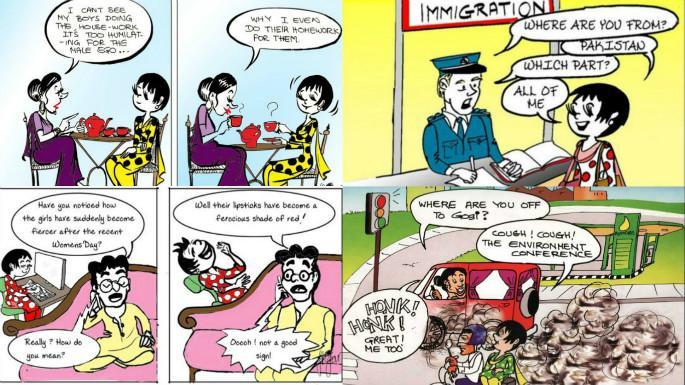 Pakistans First Female Cartoonist Nigar Nazar 3
