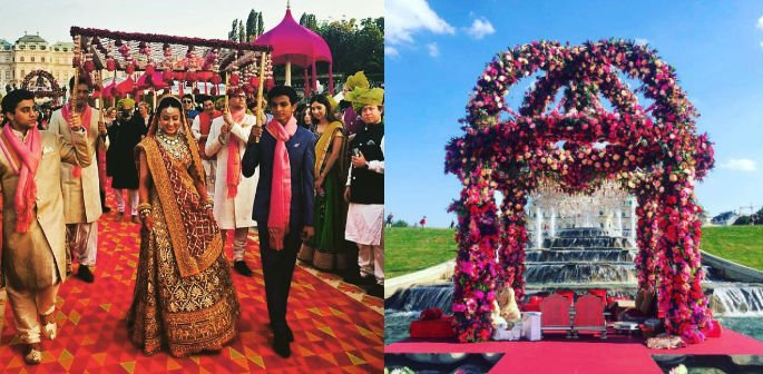 Indian couple celebrate Bollywood wedding in Vienna
