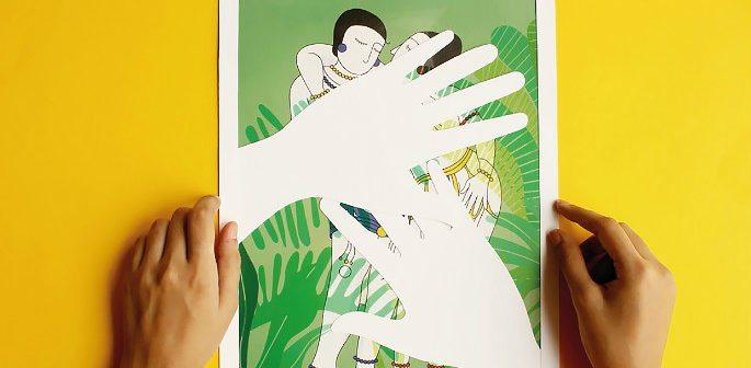 Art Project Comments on Censorship Using Khajuraho Art Style feature 2