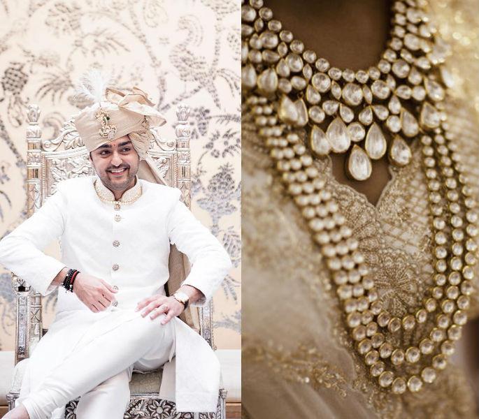 Indian bride stitches love story on lehenga