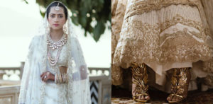 Indian bride stitches love story on lehenga