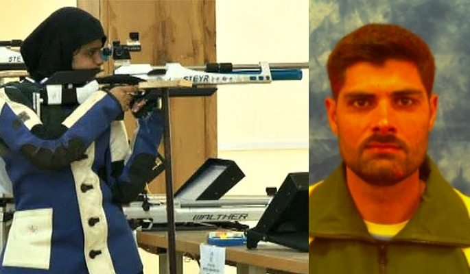 Shooters in the Pakistan Olympic Team