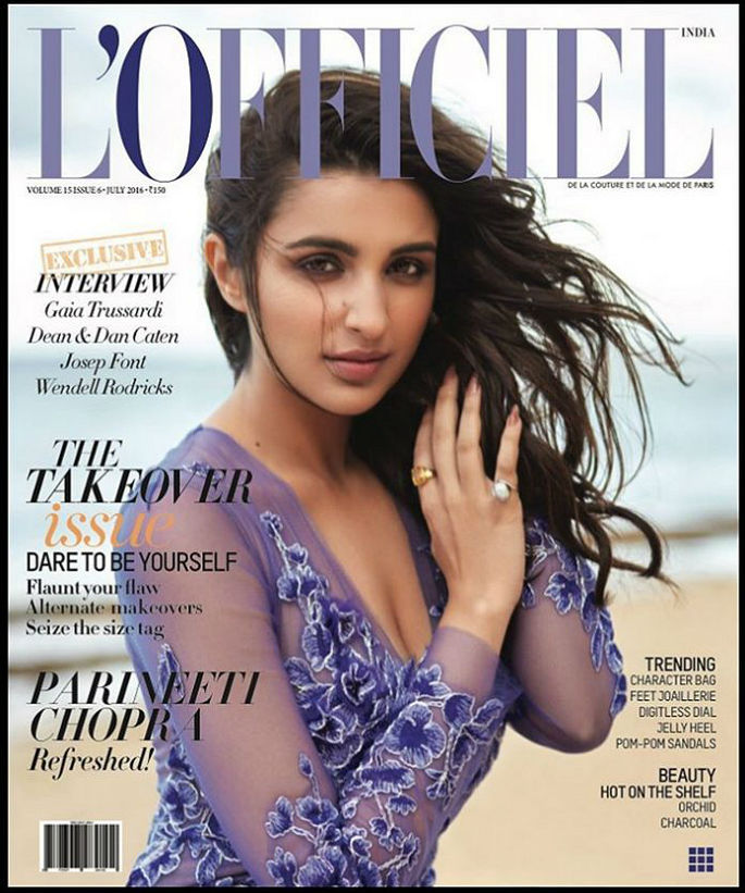 Parineeti Chopra heats up L'Officiel India cover