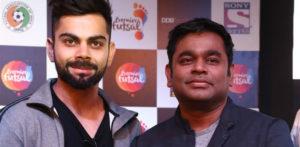 Virat Kohli & A.R. Rahman unveil Premier Futsal song
