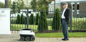 फास्ट फूड डिलीवरी के लिए रोबोट