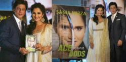 Sania Mirza launches autobiography with Shahrukh Khan