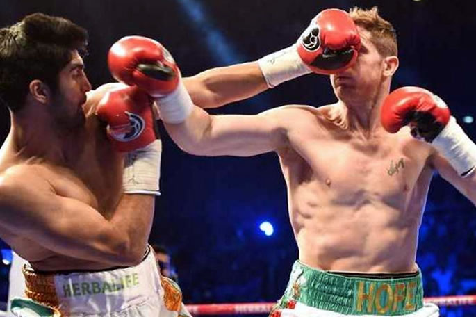 vijender singh punches kerry