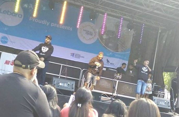 Deelite MC performing at 2016 Luton mela