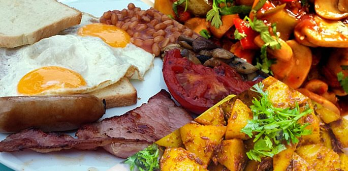 Full English Breakfast the Desi Way