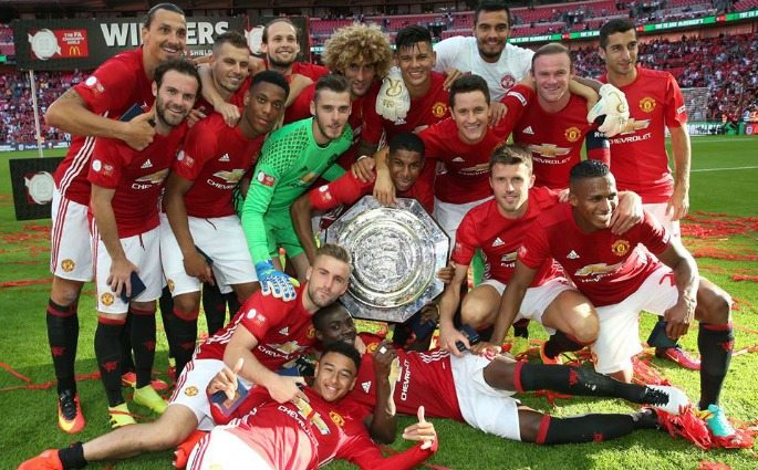 Man U win the 2016 Community Shield