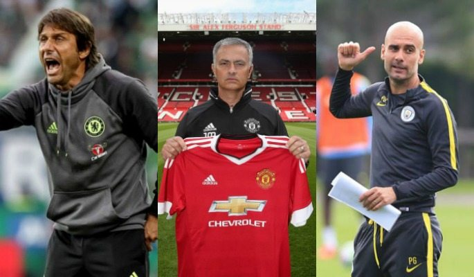 Antonio Conte, Jose Mourinho and Pep Guardiola join Premier League teams