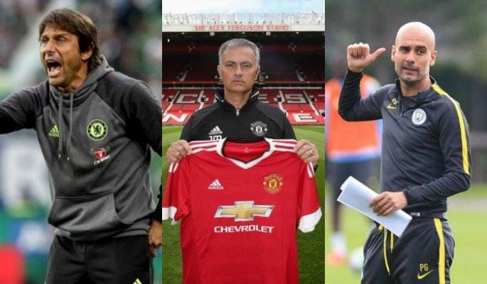 Antonio Conte, Jose Mourinho and Pep Guardiola join Premier League teams