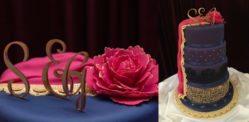 Bridal Lehenga inspires A Spectacular Wedding Cake