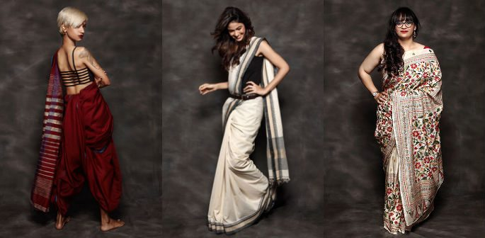 Sarees & Body Shapes celebrated on National Handloom Day