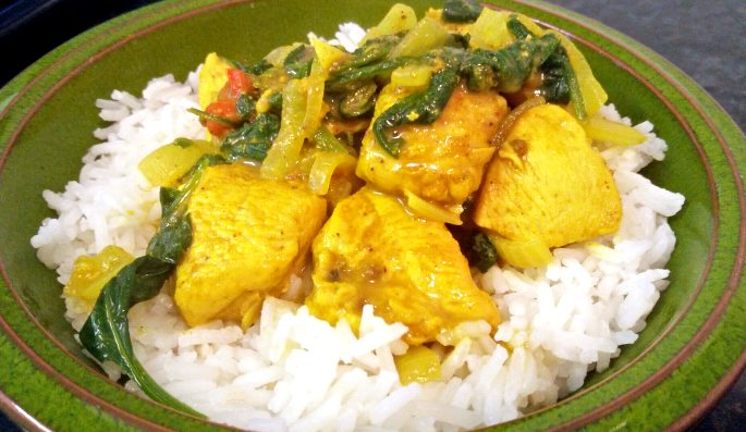 A Spicy Pakistani Chicken and Spinach Curry