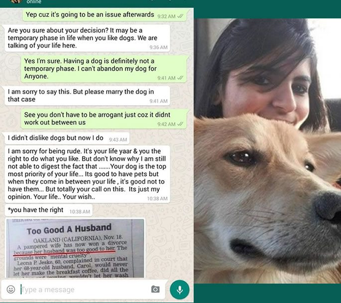 Indian Woman refuses to Marry Man who Dislikes Dogs