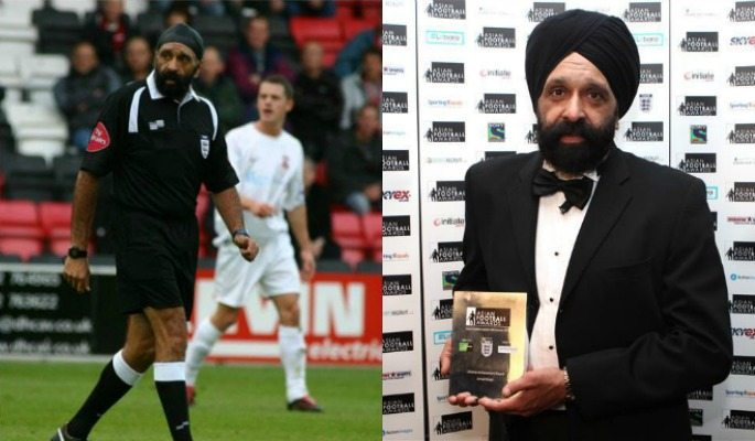 Now retired, Jarnail Singh was one of very few British Asian referees