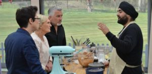 Rav creates Mirror Glaze Cake in Great British Bake Off