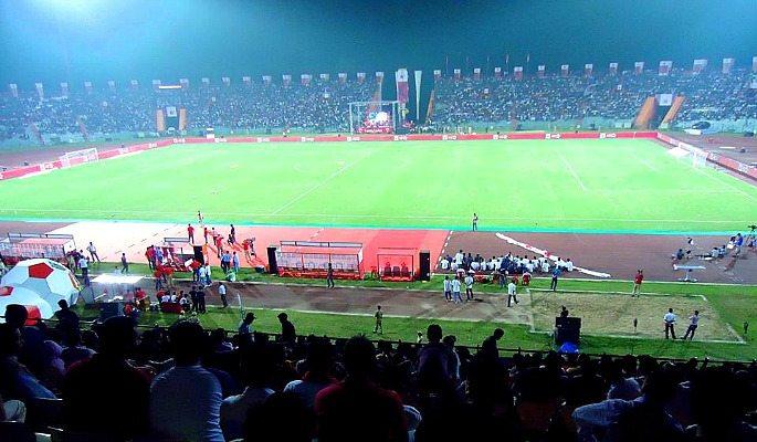 Indira Gandhi Athletic Stadium hosts 2016 Indian Super League opening ceremony