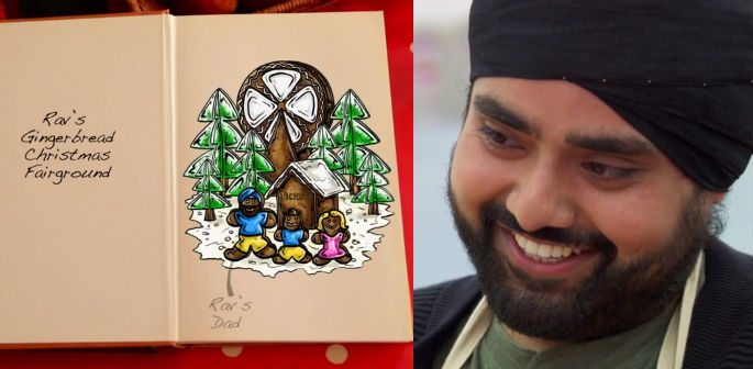 Rav's Gingerbread Story in Great British Bake Off