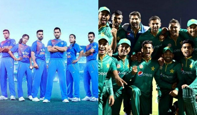 Indian and Pakistani Cricket Teams