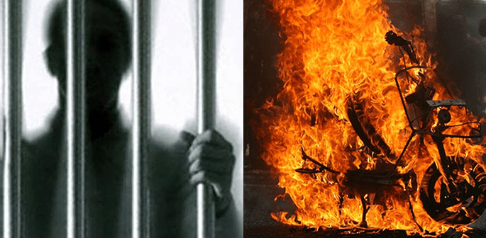 Indian Man not allowed to meet Wife burns In-Laws bike