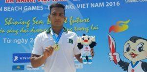 5th ম এশিয়ান বিচ গেমসে ইনাম বাট রেসলিং সোনার জিতেছে