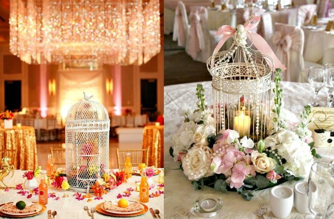 Birdcages A Decorative Trend At South Asian Weddings Desiblitz