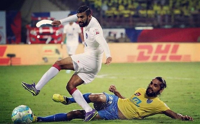Kean Lewis and Sandesh Jhingan were two Indian players who played in Delhi's 0-0 draw with Kerala