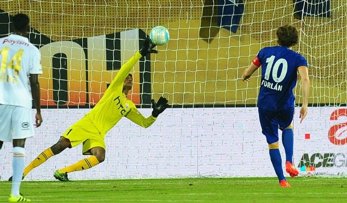 Subrata Paul has only conceded two goals so far, one being a Diego Forlan penalty