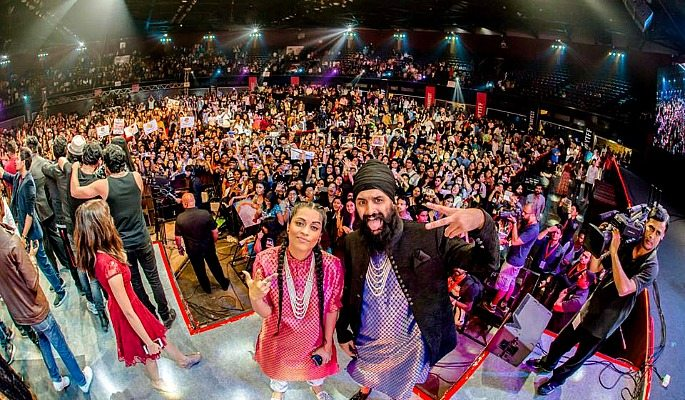 Humble the Poet and IISuperwomanII were in the same performing lineup as the Indian Jam Project at the 2016 YouTube Fan Fest